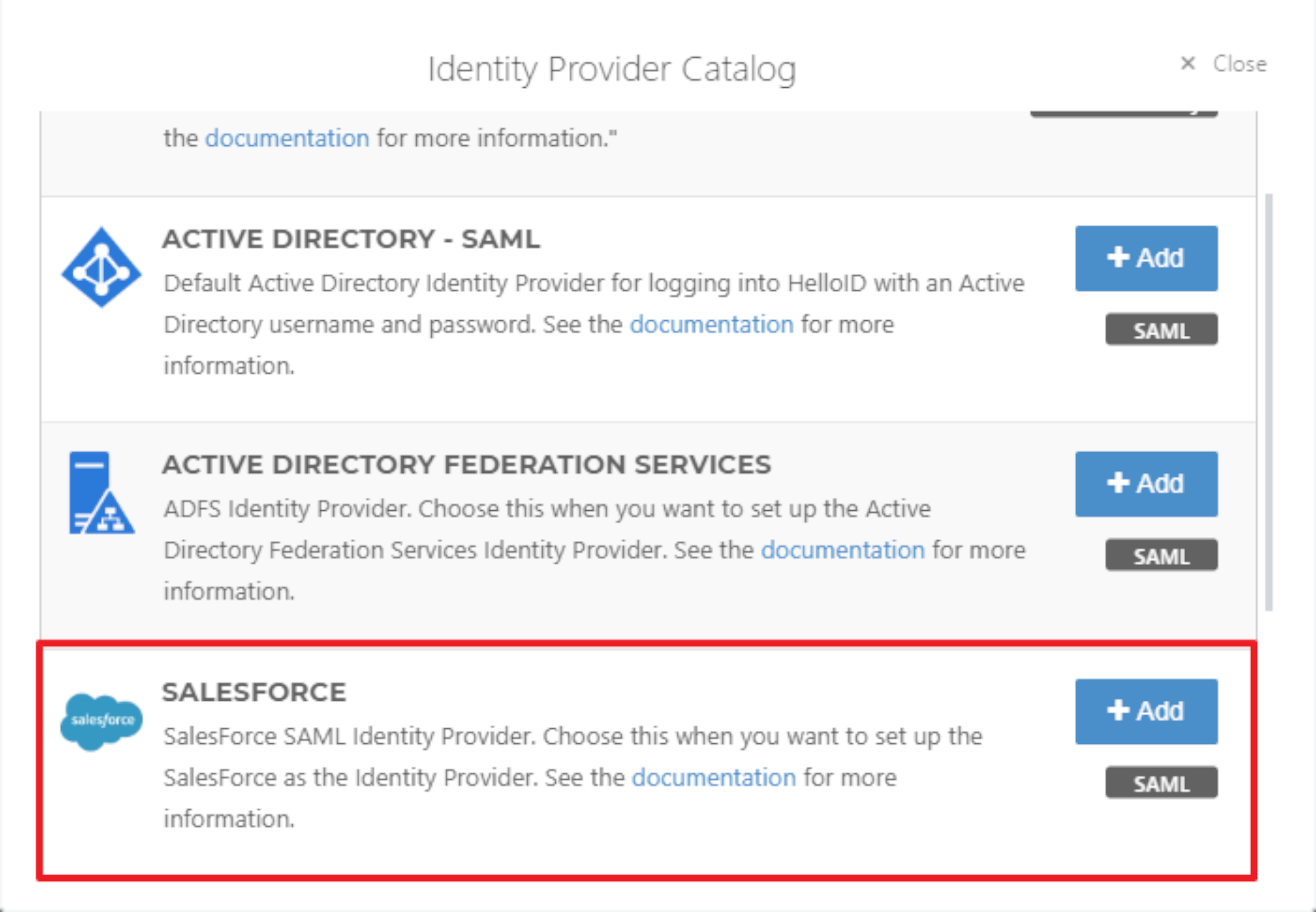 16._The_Identity_Provider_Catalog_will_open__add_the_Salesforce_SAML_Identity_Provider.png