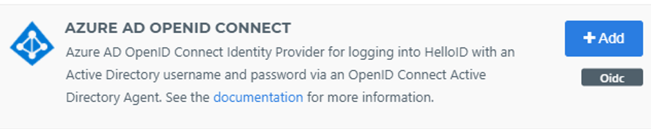 Azure AD OpenID connect