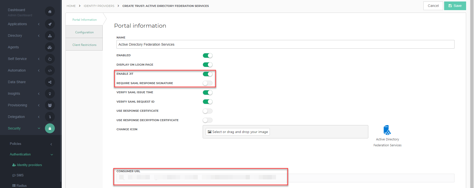 How to Configure the Active Directory Federation Services