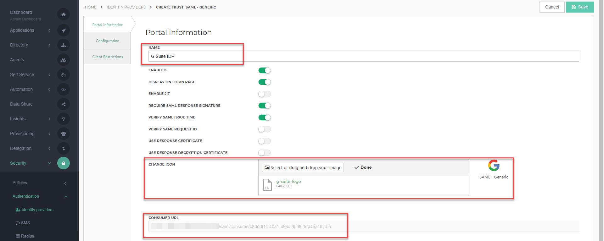 How to Configure Google G Suite as a SAML Identity Provider